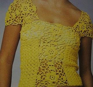 Lavori all'uncinetto: realizziamo un bellissimo top giallo