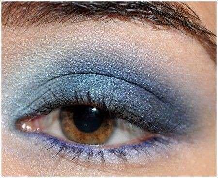 Trucco occhi: smokey in blu e azzurro