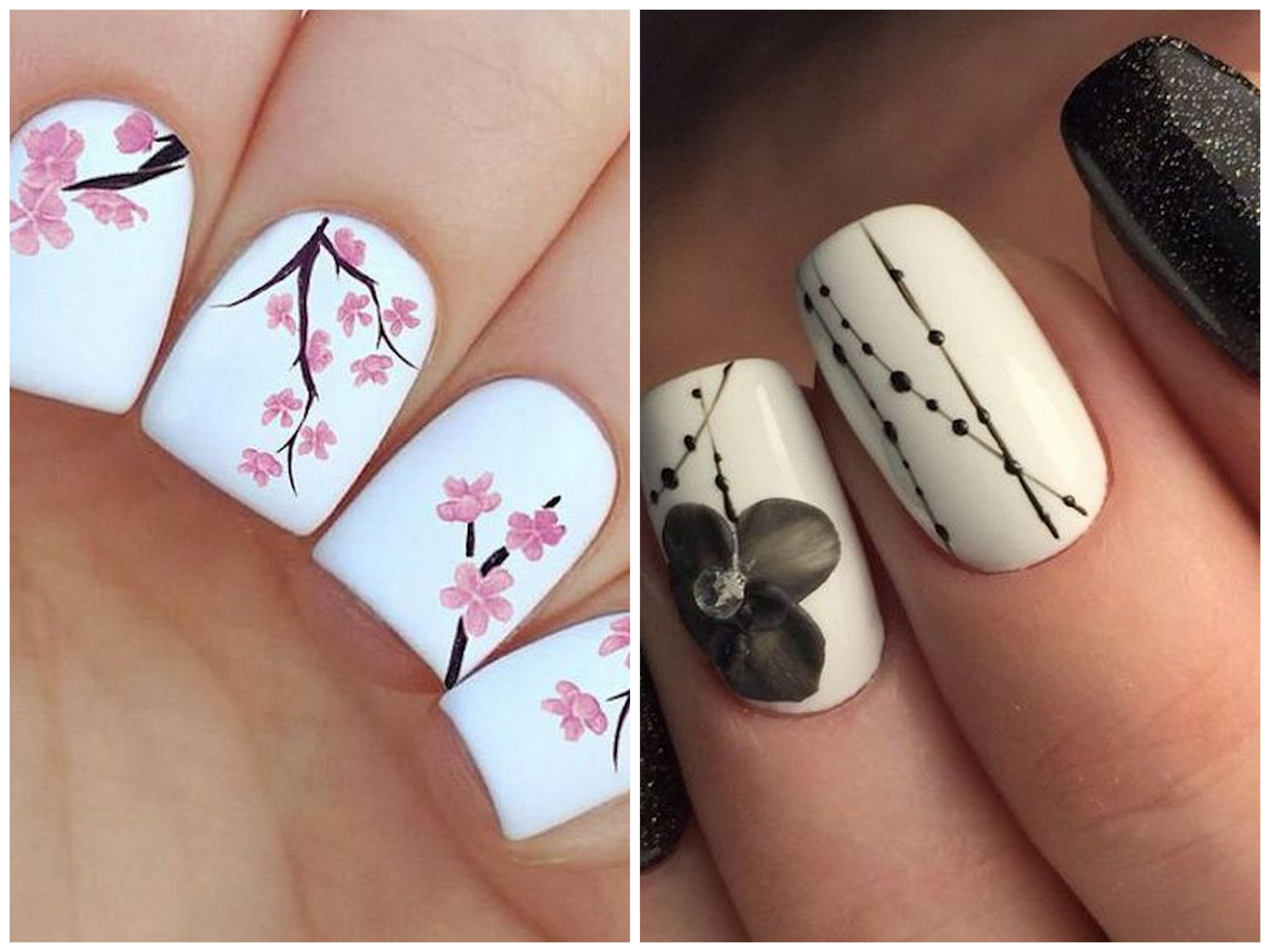 unghie gel a fiori