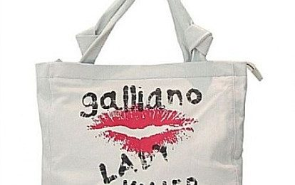 John Galliano: shopping bag e t-shirt Lady Killer