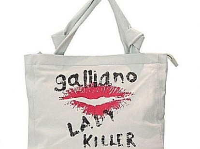 John Galliano: shopping bag e t-shirt Lady Killer