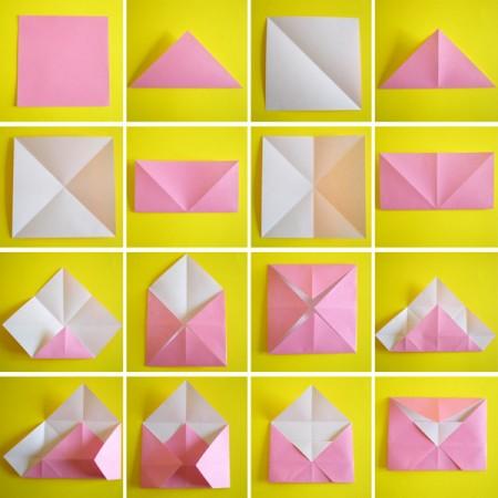 Origami semplici busta