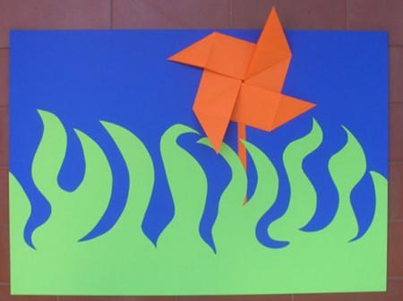 Origami semplici girandola