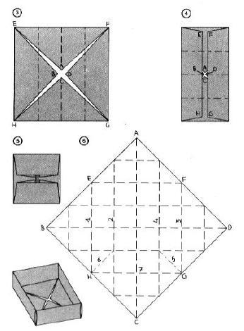 Passaggi origami scatola