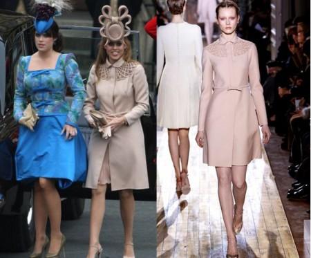 Matrimonio William e Kate: Beatrice e Eugenia in Valentino Couture e Vivienne Westwood