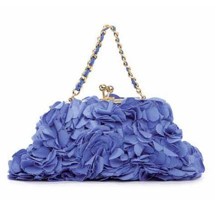 Blugirl: clutch da sera con petali blu