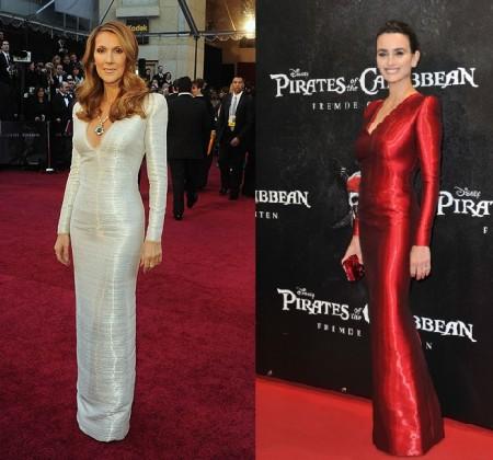 Abito Armani Privé: Penelope Cruz o Celine Dion?