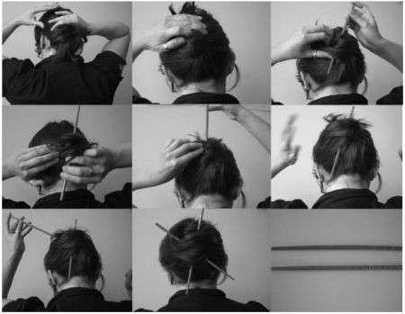 Consigli fai da te: impara a raccogliere i capelli con le bacchette