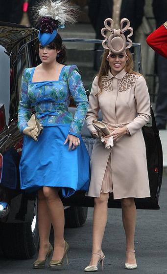 Matrimonio Will e Kate: i look delle principesse di York Eugenie e Beatrice