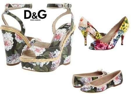 D&G: romantiche scarpe floreali per la primavera
