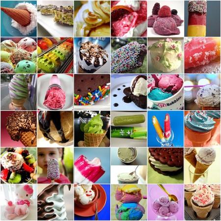 le calorie dei gelati