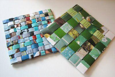 Riciclo creativo: proposta per creare allegri sottobicchieri di carta