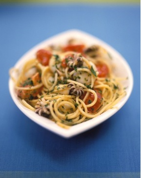 spaghetti seppie olive
