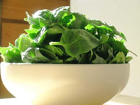 spinaci ricette benessere