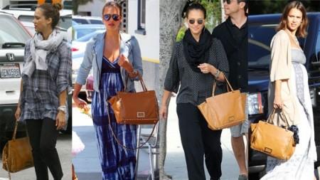 Jessica Alba adora la sua Valentino 'Rockstud' Bag