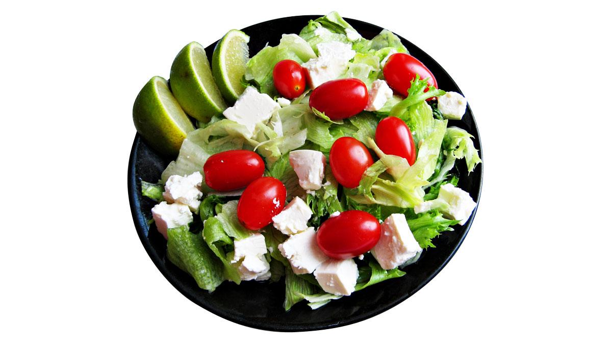 Dieta con insalata