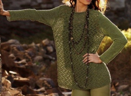Lavori a maglia crea la tua tunica per l'estate