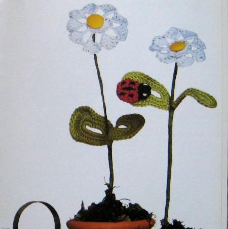 Margherite di cotone per realizzare nuovi fiori all'uncinetto