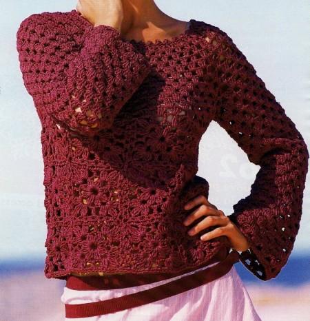 Schemi uncinetto: crea un pullover a quadri leggerissimo