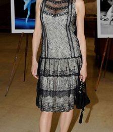 Rossella Brescia con un romantico abito Blugirl
