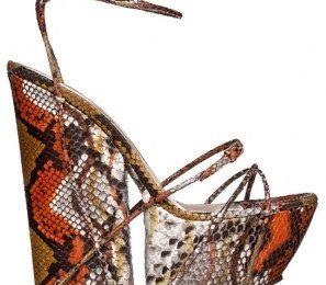 Stile eccentrico e animalier per le zeppe estive Yves Saint Laurent, provocazione o stile?
