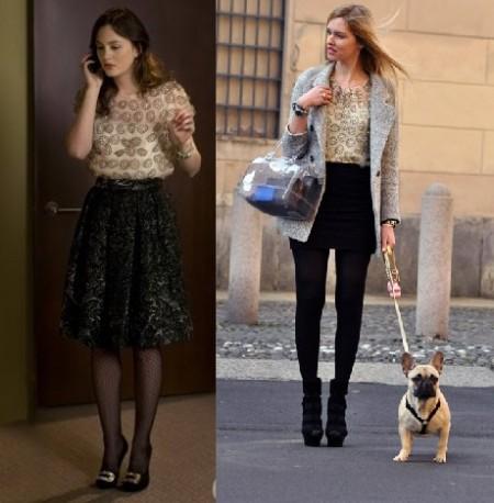 Il top a fiorellini di Milly sta meglio a Chiara Ferragni o a Leighton Meester?