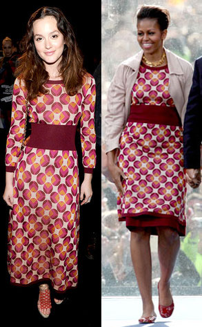Leighton Meester vs Michelle Obama, quale look Marc Jacobs preferite?
