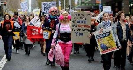 Marcia provocatoria donne
