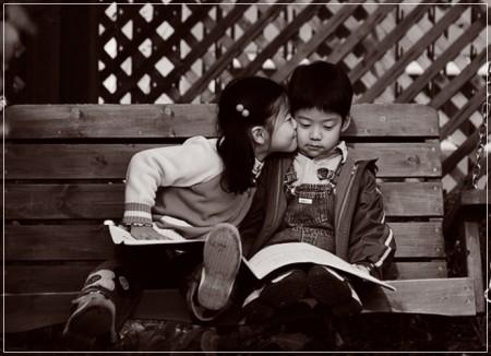 poesie amore bacio bambini