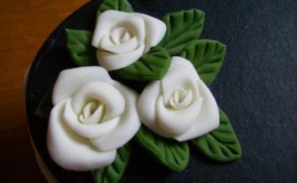 Come si fa una rosa con la pasta di sale