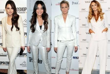 Tendenze moda: il tailleur bianco con i pantaloni