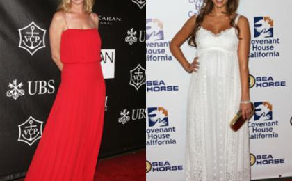 Uma Thurman e Jessica Alba radiose in Valentino e Dolce & Gabbana