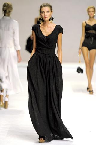 vestiti lunghi nero