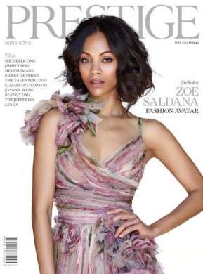 Zoe Saldana, una ninfa per Prestige Magazine