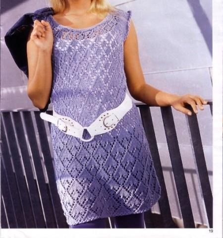 Crea un abito con maniche ad aletta con i lavori a maglia