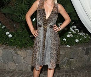 Glamour e sensuale Carolina Crescentini in total Gucci all'Ischia Global Film & Music Fest