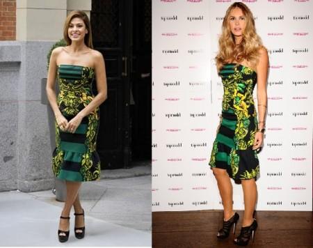 L'abito barocco di Prada sta meglio a Eva Mendes o a Elle Macpherson?