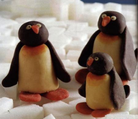 Pinguini in pasta di zucchero