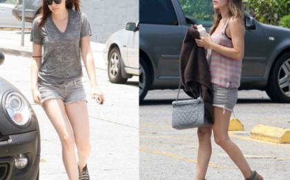 "Kristen Stewart e Rachel Bilson con shorts Siwy ""Camilla"", seducenti e chic"