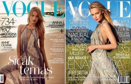 Vogue adora Roberto Cavalli, un abito due copertine!