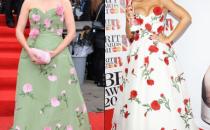 Gli abiti a fiori di Oscar de la Renta conquistano le star, meglio Rihanna o J.K Rowling?