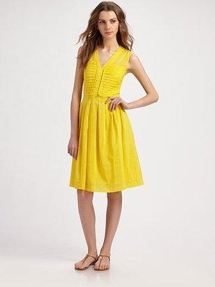 abito giallo tory burch