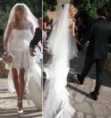 Anja Rubik si è sposata, ecco l'abito che Emilio Pucci ha fatto per lei