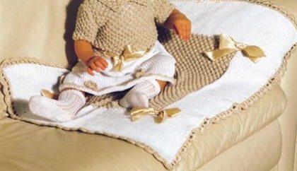 Impariamo a realizzare un'elegante copertina per neonati