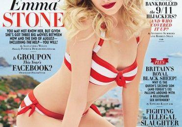 Emma Stone con bikini Marc by Marc Jacobs su Vanity Fair