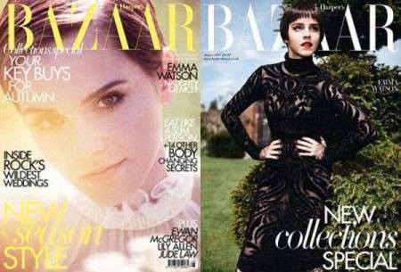 La versatilità dei capelli corti interpretata da Emma Watson su Harper's Bazaar