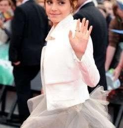 Il look di Emma Watson per il gran di finale di Harry Potter