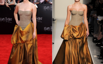 Emma Watson, un abito da principessa Bottega Veneta per la premiere di Harry Potter a New York