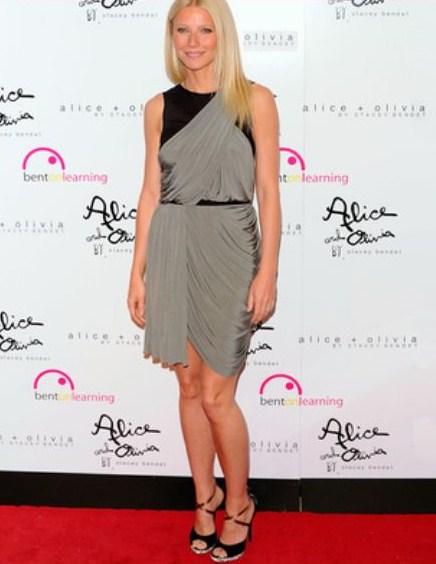 Gwyneth Paltrow sceglie bellissimi sandali Giuseppe Zanotti dalla nuova collezione