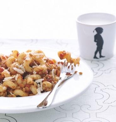 insalata di pasta e lenticchie